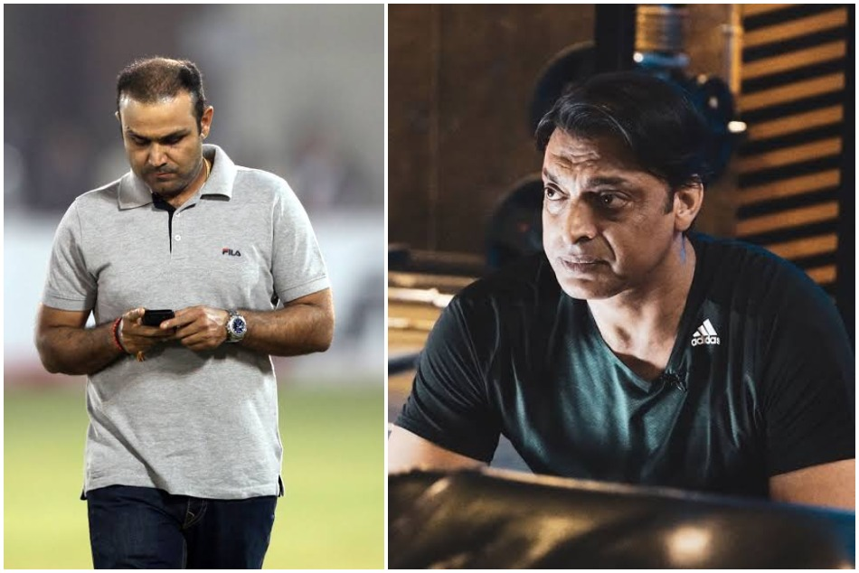 Shoaib Akhtar answers to Virender Sehwag that he has more money than indian batsman hair on his head