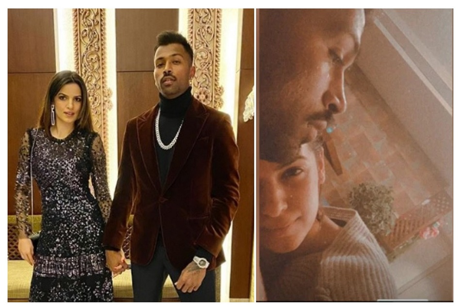 Hardik Pandya meets with Natasa Stankovic family and actress shares romantic pic with him
