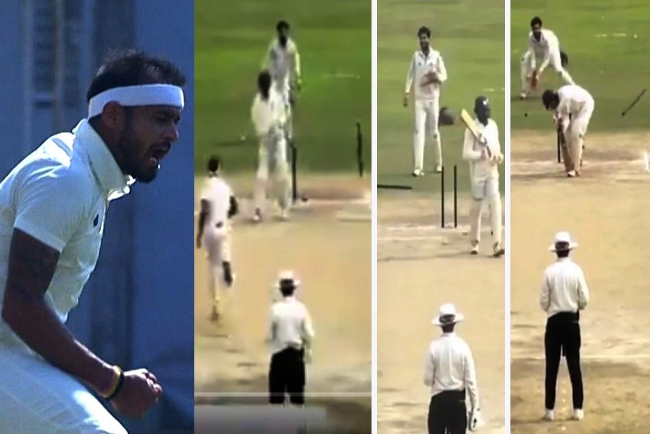 Ranji Trophy: Siddharth Kaul bowled three batsmen in successive delivery, Watch his hat-trick
