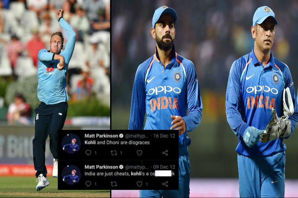 English leg spinner Matt Parkinson trolled on his old tweets about MS Dhoni and Virat Kohli