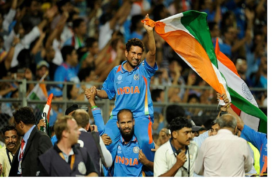 Sachin Tendulkar Carried on the Shoulders Of a Nation won Laureus Sporting Moment