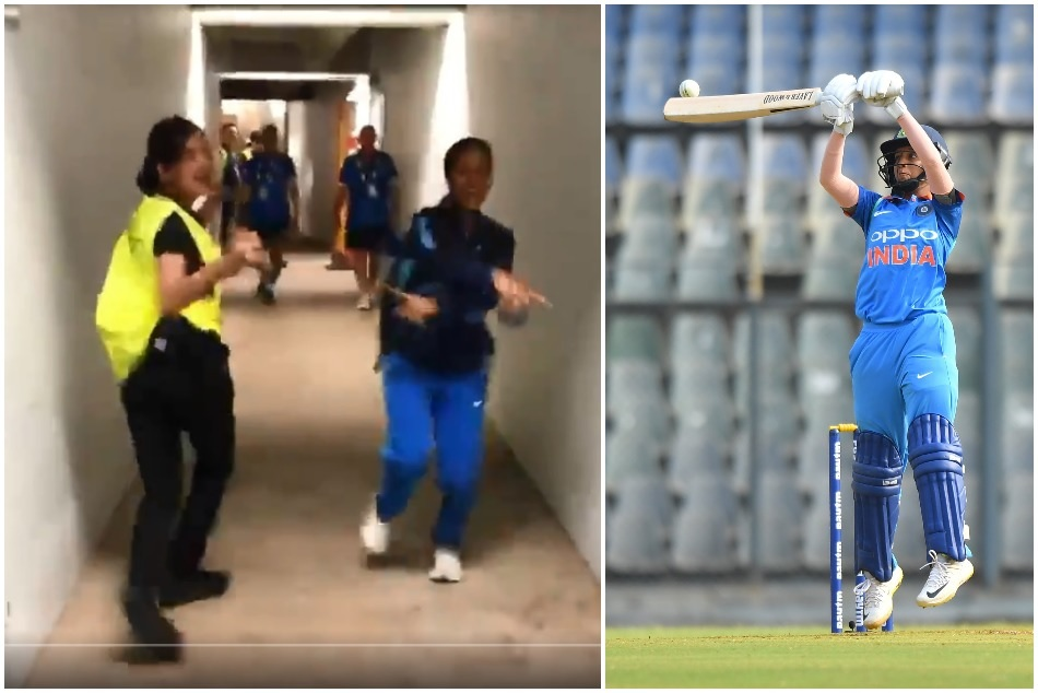 ICC Womens T20 World Cup: Jemimah Rodriques dance with security guard-Watch