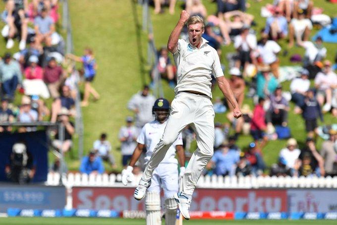 IND vs NZ, 1st Test: भारत के खिलाफ 4 छक्के लगा काइल जैमिसन ने बनाया विश्व रिकॉर्ड