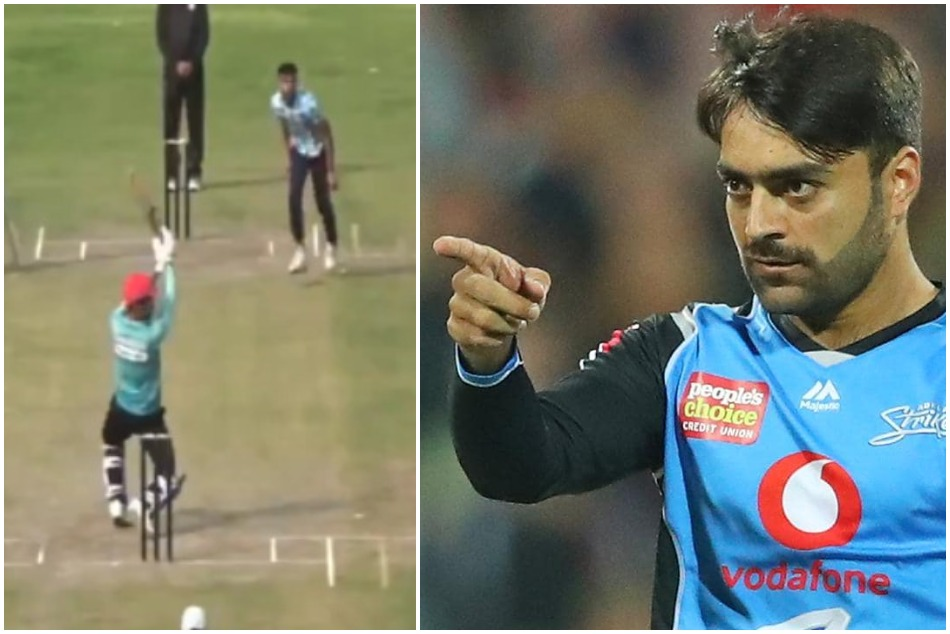 Rashid Khan shares an Video asking fans whether is it Reverse Helicopter shot-Watch
