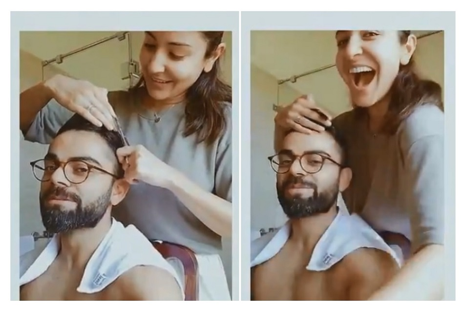 Virat Kohli gets new look in lock down as Wife Anushka Sharma turned into hair stylist- Watch