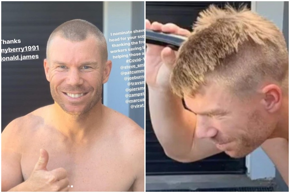 David Warner supports medical staff in unique manner and forward challenges to kohli and smith-watch