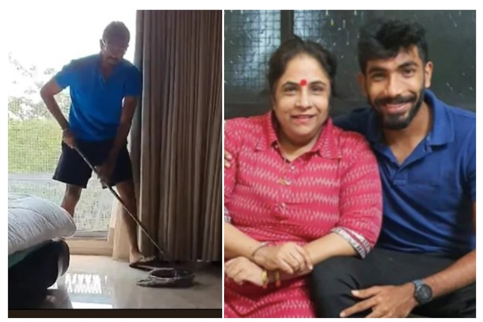 Here is how Jasprit Bumrah keeping her mother happy in lock-down- Watch