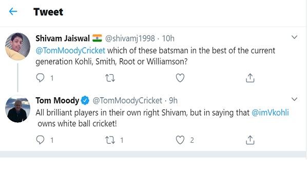 'कोहली सफेद गेंद क्रिकेट के मालिक'
