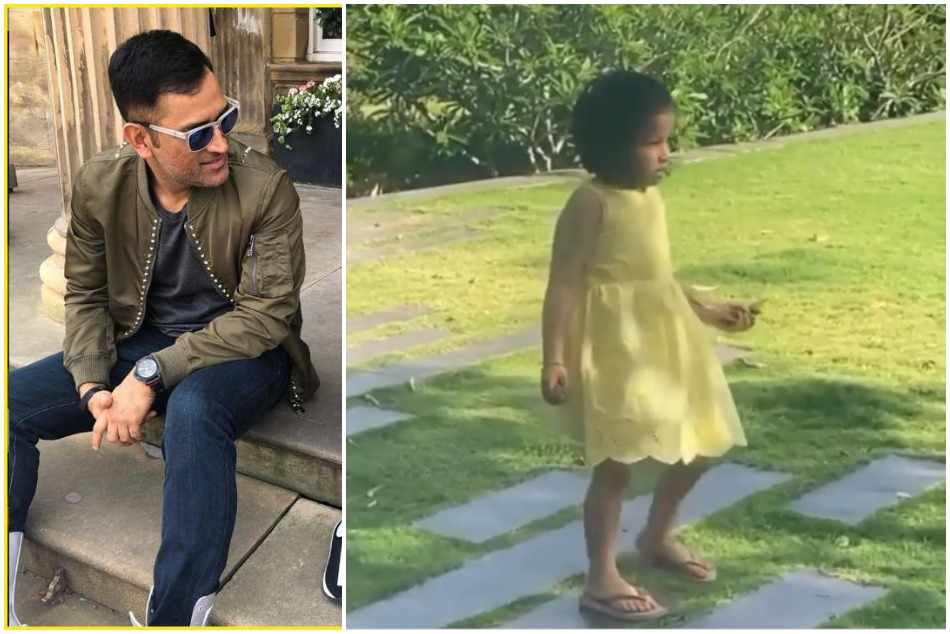 MS Dhoni daughter Ziva is helping staff to clean the garden in lockdown- Watch