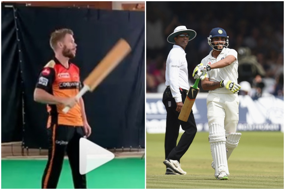 David shares a video of his bat moves and compares it with Ravindra Jadeja- Watch