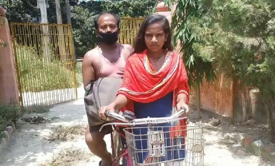 After 1200 km cycling with father Jyoti Kumari gets trial call from Cycling Federation of India