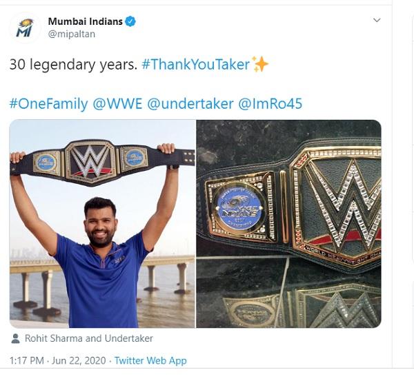 मुंबई इंडियंस ने शेयर की ये पोस्ट-