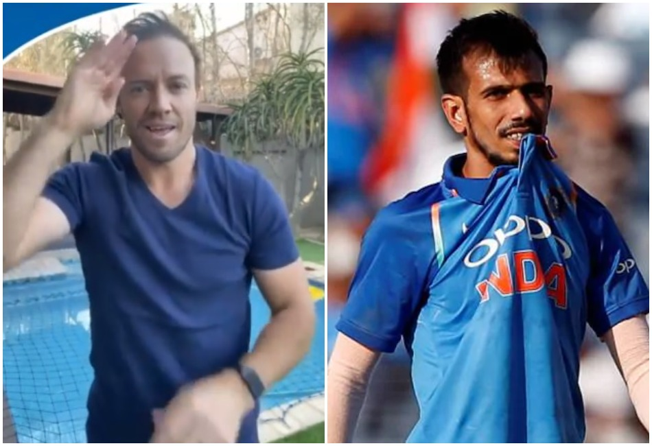 Ab De villiers reacted on Yuzvendra Chahal comment on his dance video