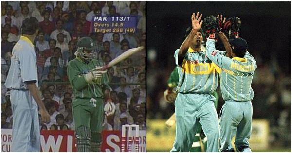 भारत और पाकिस्तान 1996 विश्व कप का क्वार्टर फाइनल खेल रहे थे-
