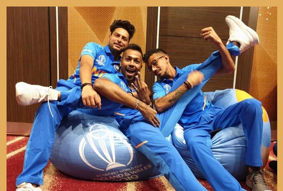 Yuzvendra Chahal shares his picture with Hardik pandya and Kuldeep Yadav from 2019 world cup