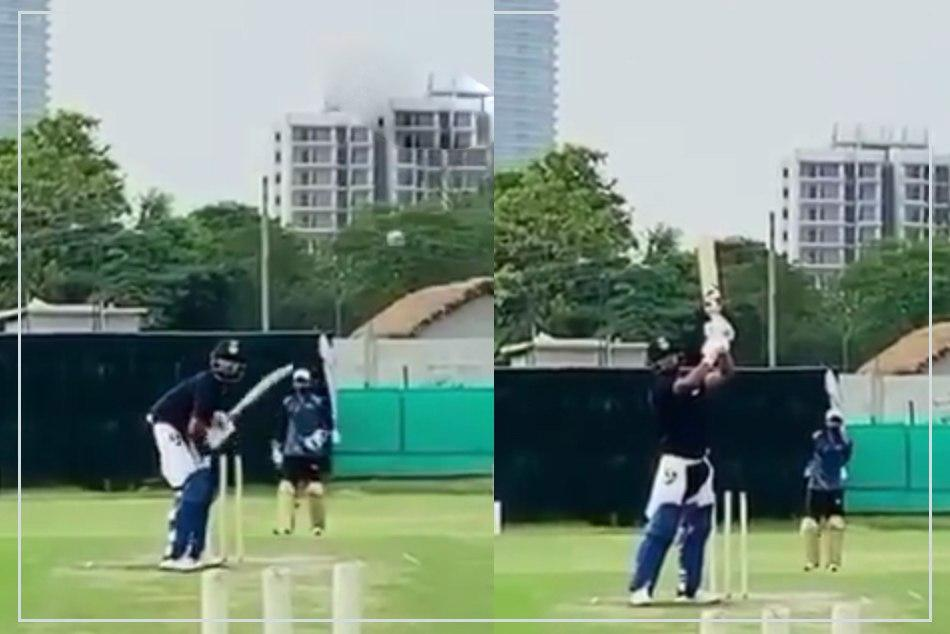 Rishabh Pant outdoor training goes well with Dhoni style helicopter shots- Watch Video