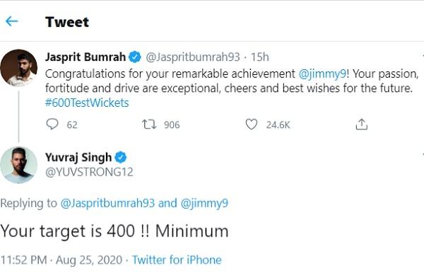 युवराज ने बुमराह के लिए सेट किया- 400 विकेटों का लक्ष्य