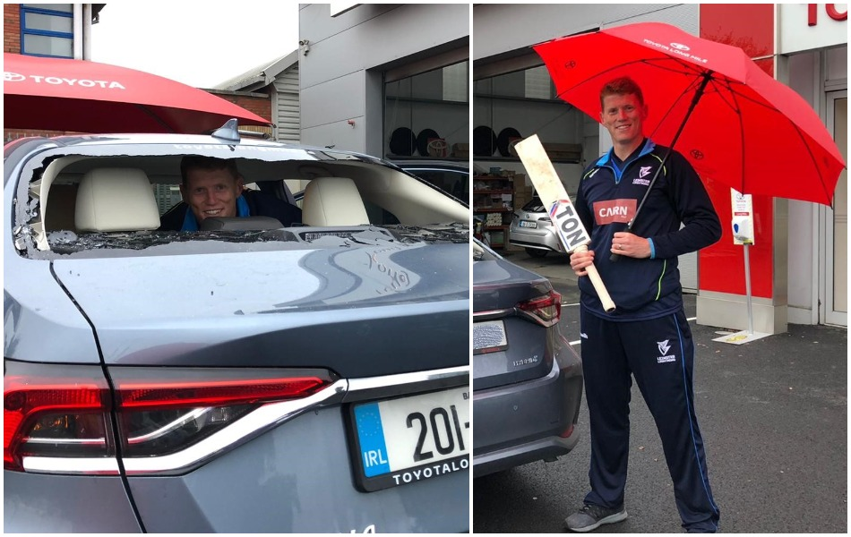 Kevin O Brien smashes 82 runs off 37 balls, broke own car window by his one huge six