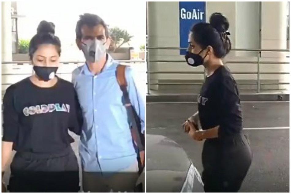 सगाई के बाद मुंबई एयरपोर्ट पर दिखे चहल और धनश्री, वीडियो आया सामने