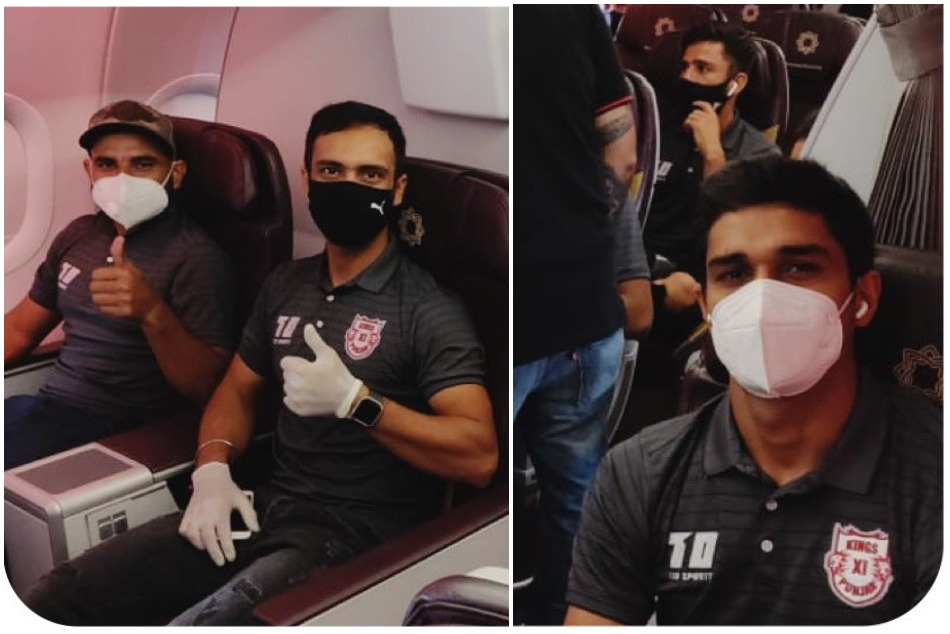 IPL 2020: Kings Eleven punjab take off to Dubai, Mohammad Shami shares pictures
