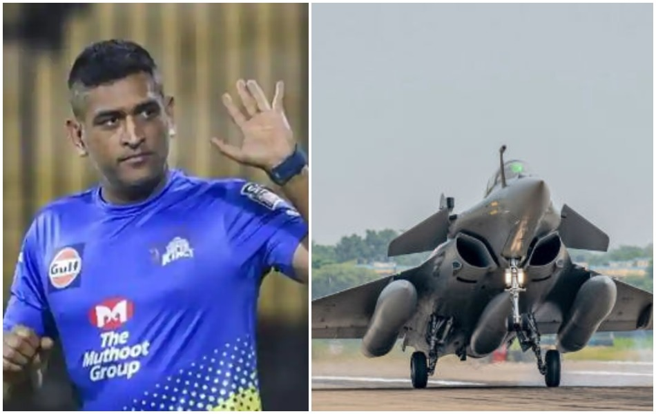 MS Dhoni tweets to mark the induction of Rafale fighter planes