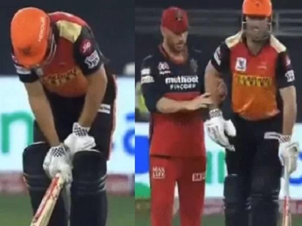 चोट के बावजूद, वह बल्लेबाजी करने मैदान पर आए