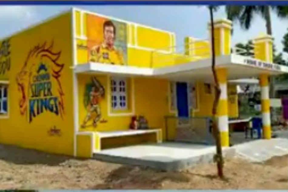 CSK के फैन ने पूरे घर को टीम के रंग में रंगा, महेंद्र सिंह धोनी ने दी प्रतिक्रिया