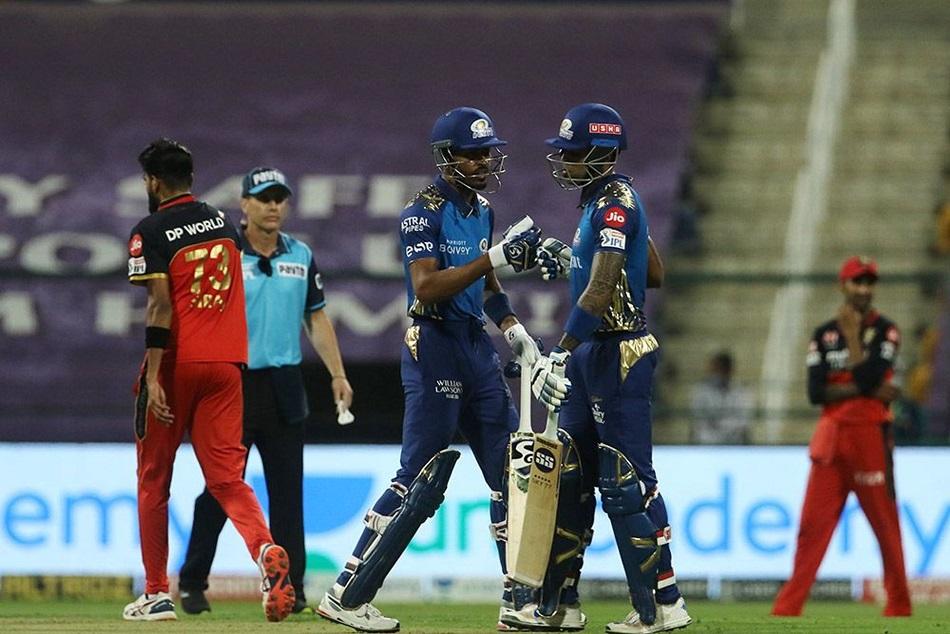 IPL 2020 : मुंबई ने आरसीबी को 5 विकेट से हराया, प्लेऑफ में बनाई जगह