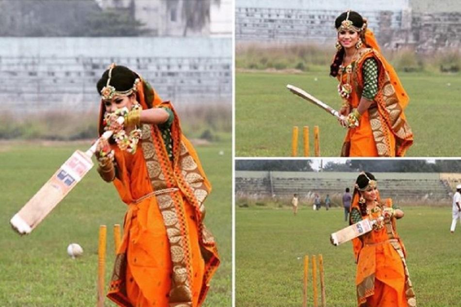 इस महिला क्रिकेटर ने रचाई शादी, बल्ले से शाॅट लगाकर करवाया फोटोशूट