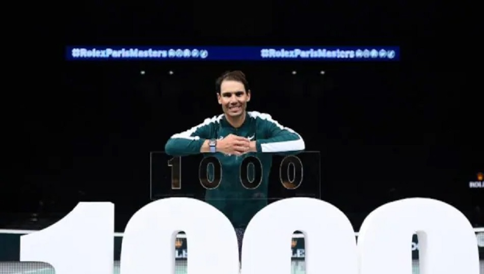 Rafael Nadal claiming 1,000th Tour-level win in empty and silent stadium