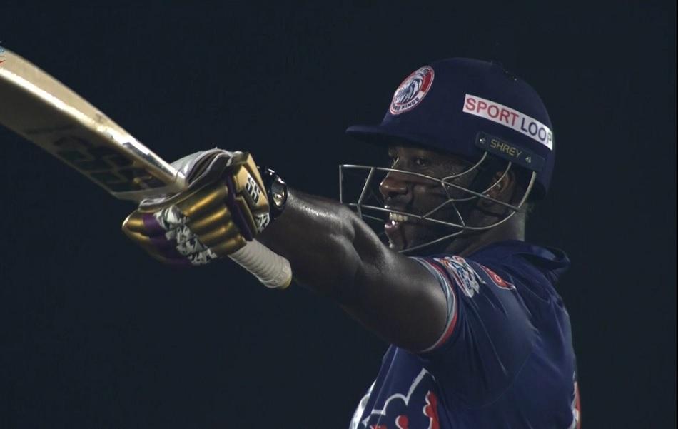 LPL: KKR के ग्लव्स पहनकर आंद्रे रसेल ने की बैटिंग, 14 गेंदों में ठोक दी फिफ्टी