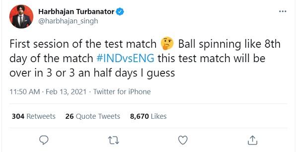 harbhajan tweet