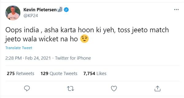 kevin pietersen hindi tweet