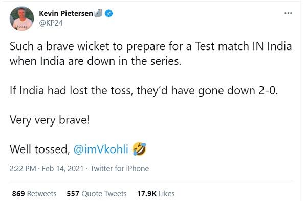 पीटरसन ने भी पिच और टॉस पर फोड़ा ठीकरा-