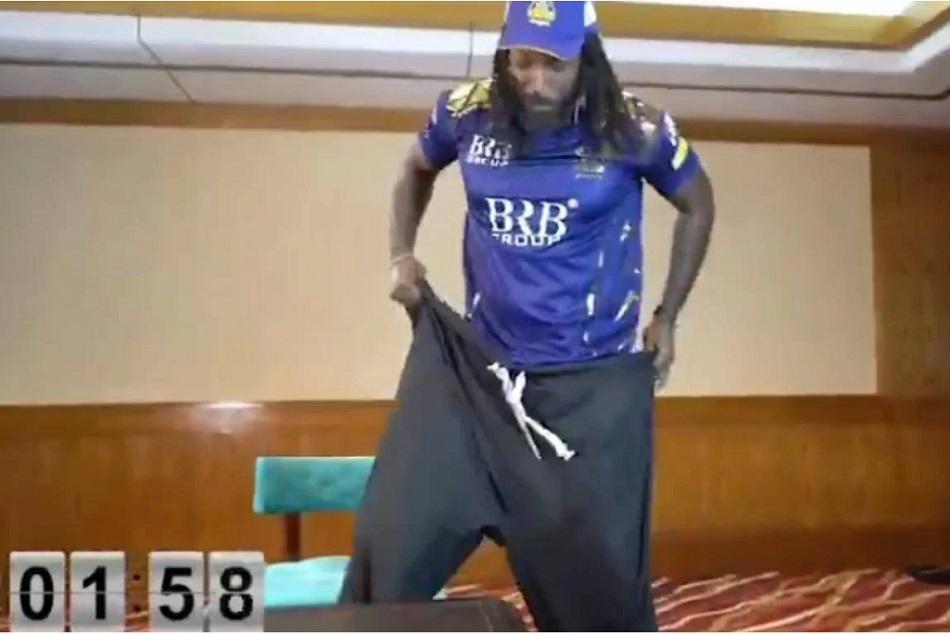 क्रिस गेल का 'सलवार चैलेंज' देख नहीं रोक पाएंगे हंसी, वीडियो हुआ वायरल