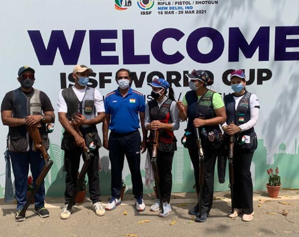ISSF Shooting World Cup: India win gold in the womens Trap Team event