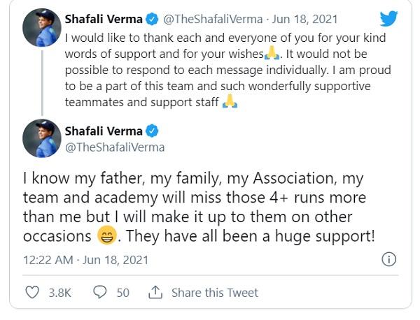 परिवार को लेकर किया मजेदार ट्वीट-
