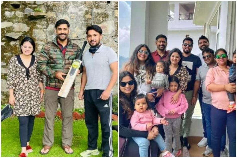 MS Dhoni is in Shimla with Sakshi and other extended family members