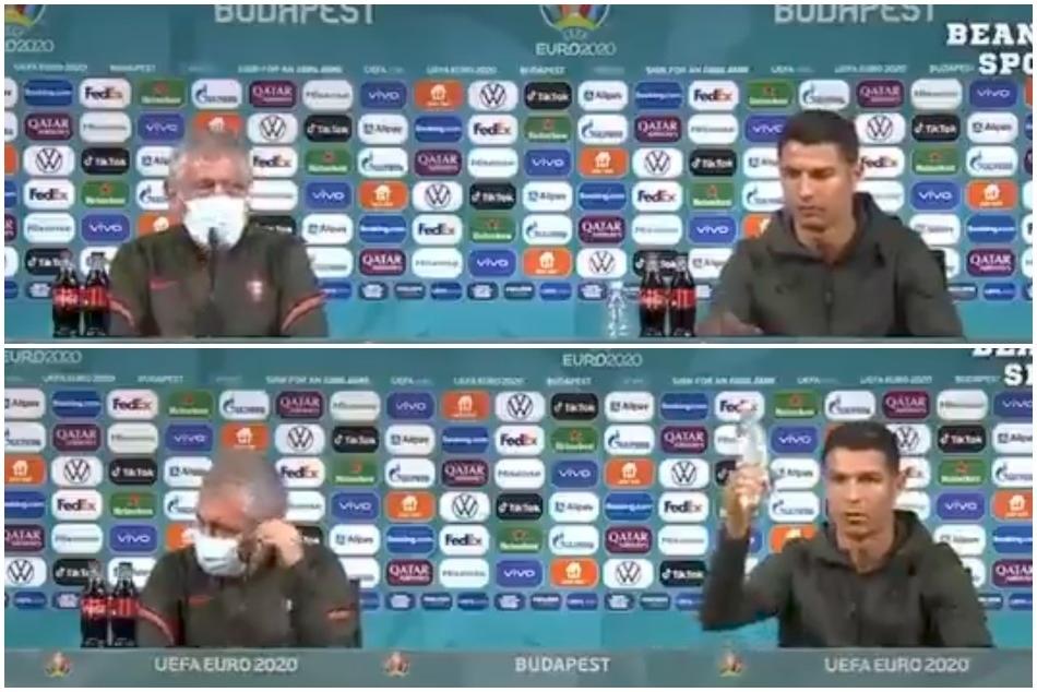 Euro 2020: Cristiano Ronaldo removes Coca Cola in press conference, his coach surprised- Video