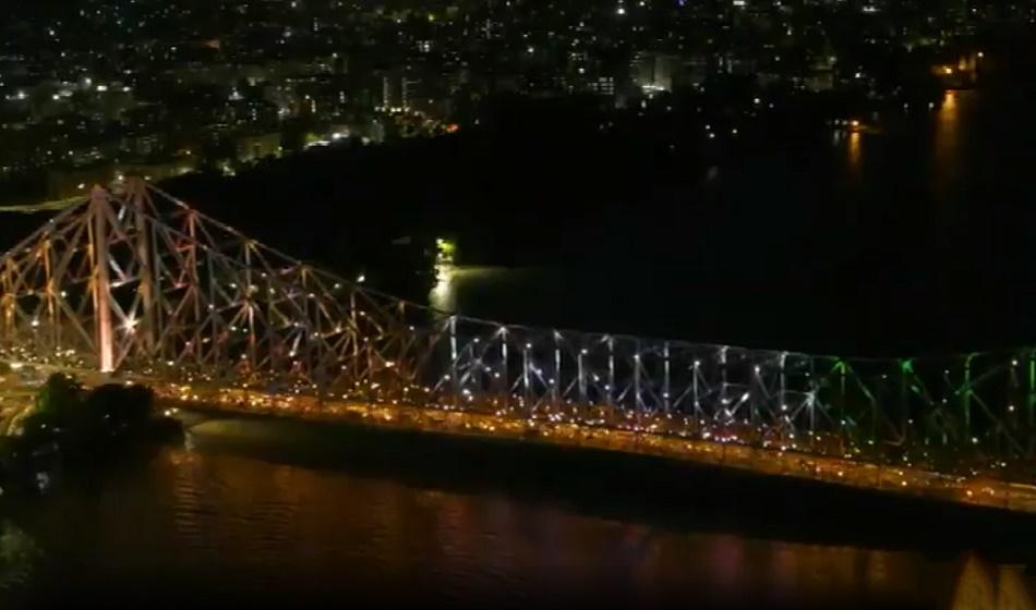 Tokyo Olympics 2020: ओलंपिक कलर्स में रंगा कोलकाता का हावड़ा ब्रिज, देखें वीडियो