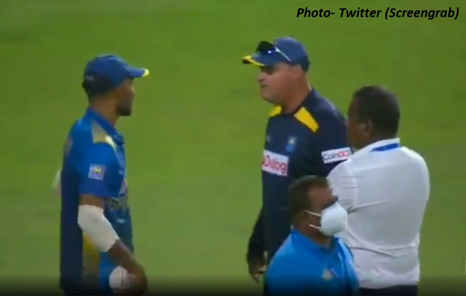After the defeat, there was a heated argument between the coach and the captain of Sri Lanka on the field itself, VIDEO Viral