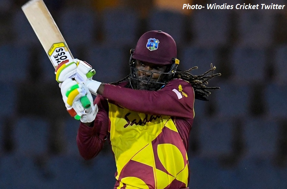 Chris Gayles stormy innings with 7 sixes, West Indies won the series by defeating Australia before 15 overs