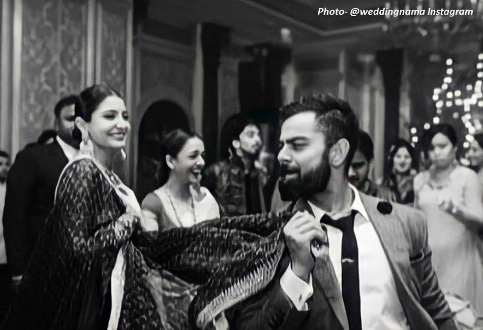 जहीर और सागारिका की शादी के दौरान क्लिक की गई अनुष्का-विराट की फोटो वायरल