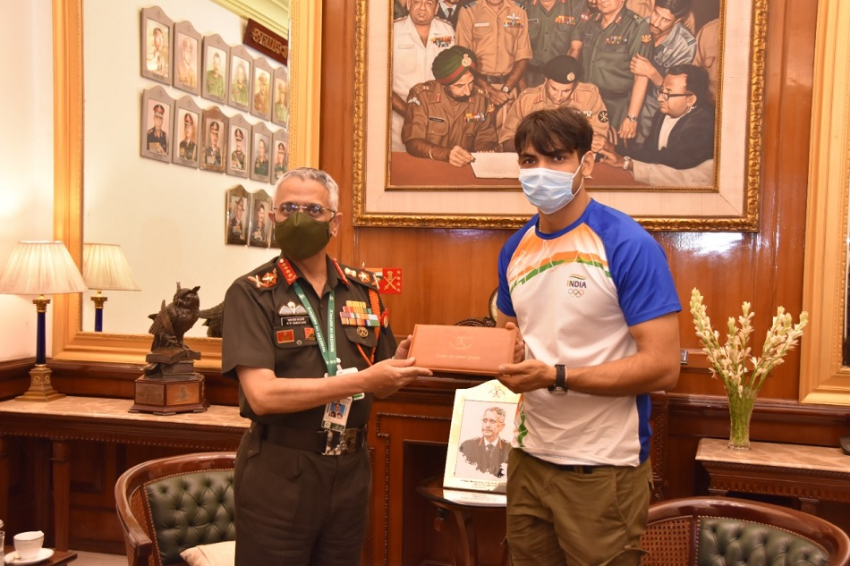 Tokyo 2020: Neeraj Chopra meets Army Chief General MM Naravane, Rajputana Rifles greets