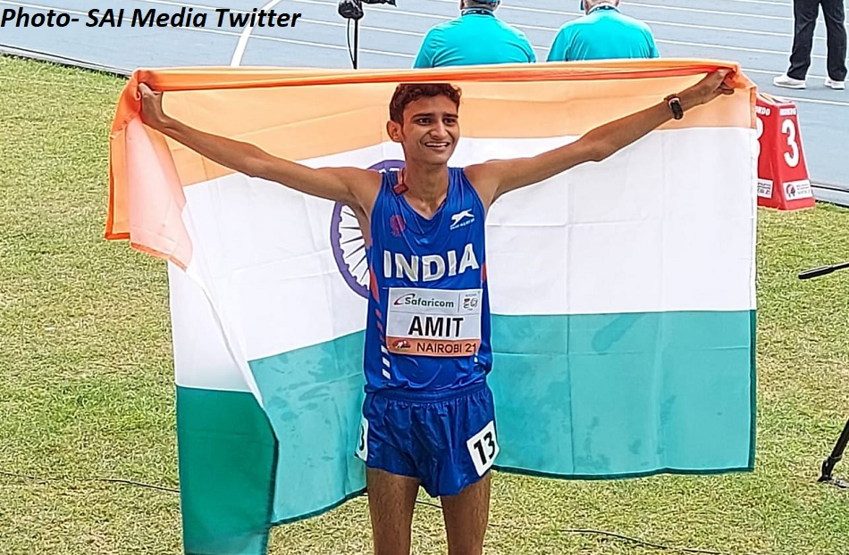World Athletics U20: Amit Khatri wins silver in 10,000m race walk, Indias 1st ever medal in event