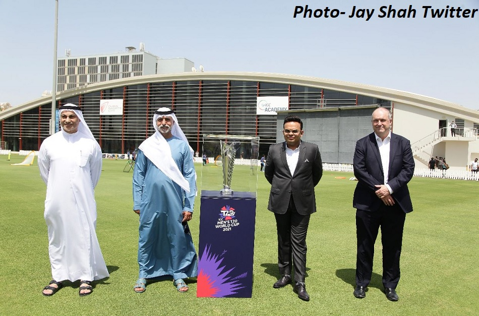 BCCI secretary Jay Shah unveils T20 World Cup trophy in Dubai along with ICC officials