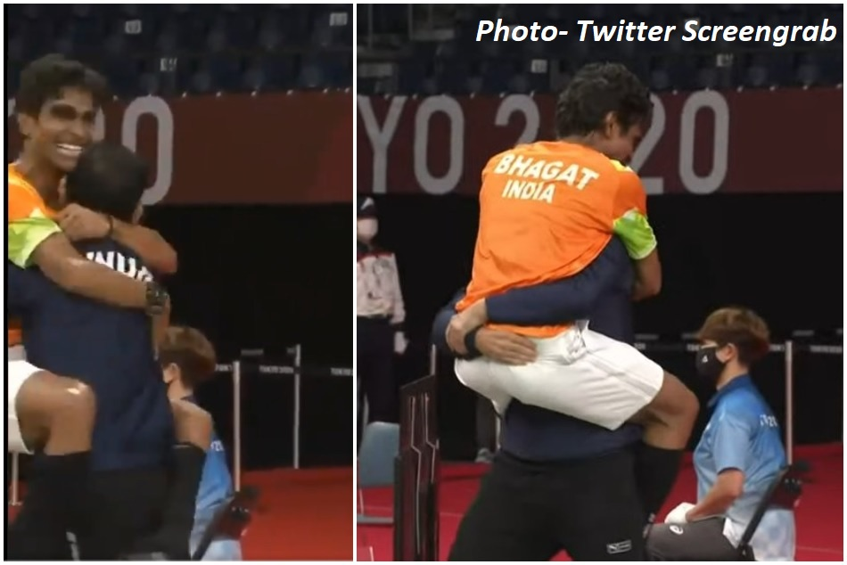 Emotional badminton coach Gaurav Khanna says he Didnt expect Pramod Bhagat jump in his lap after victory