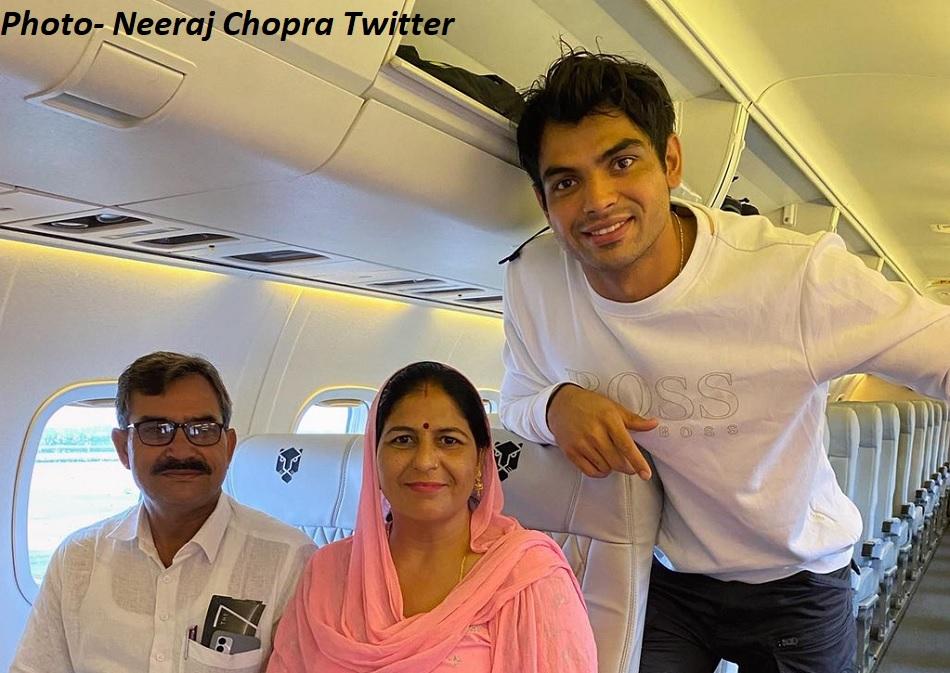 Neeraj Chopras small dream fulfilled as his parents got their first flight tour