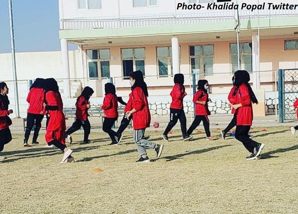 Afghanistans womens youth football team reaches Pakistan for political asylum in third countries
