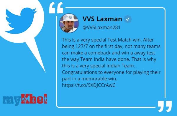 लक्ष्मण ने बताया वेरी-वेरी स्पेशल जीत